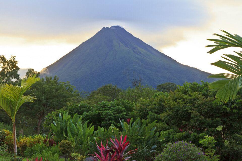 Garten in La Fortuna vor dem Vulkan Arenal