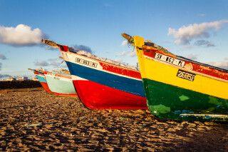 Fischerboote auf Sao Vicente