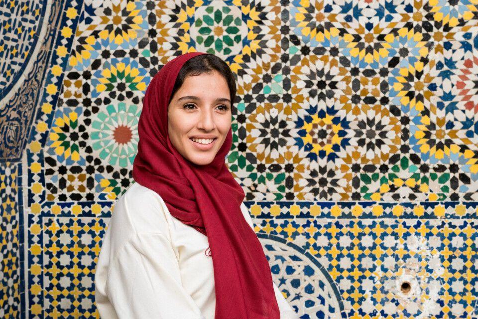 Muslimische Frau mit Hijab