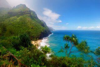 Atemberaubende Aussicht vom Kalalau Trail in Kauai, Hawaii