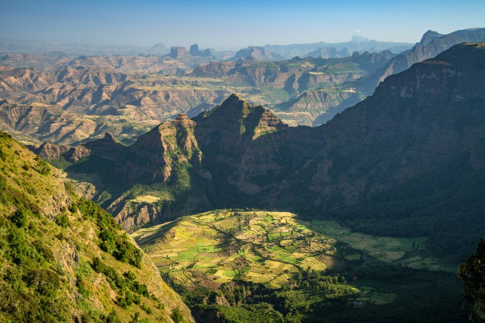 Panoramablick auf das Simien-Gebirge