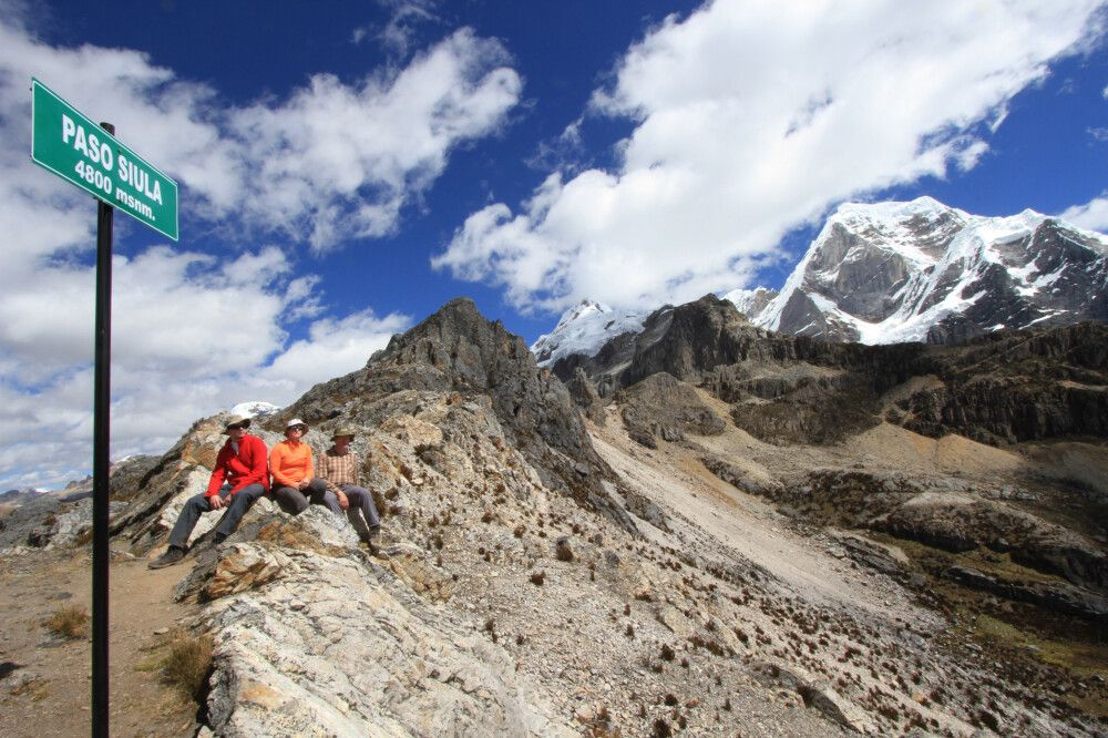Siula Pass (4800m), Cordillera Huayhuash
