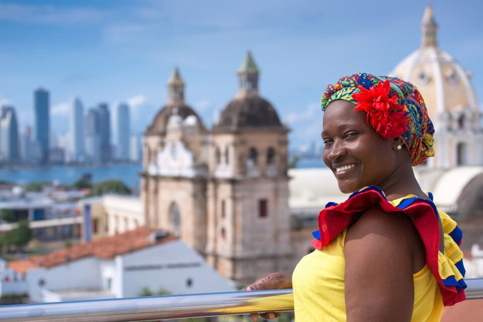Kolumbianerin  in Cartagena de Indias