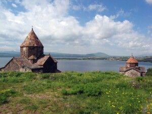 Sewan Halbinsel mit Sevanavank Kloster (Sewanawank) am Sewan See