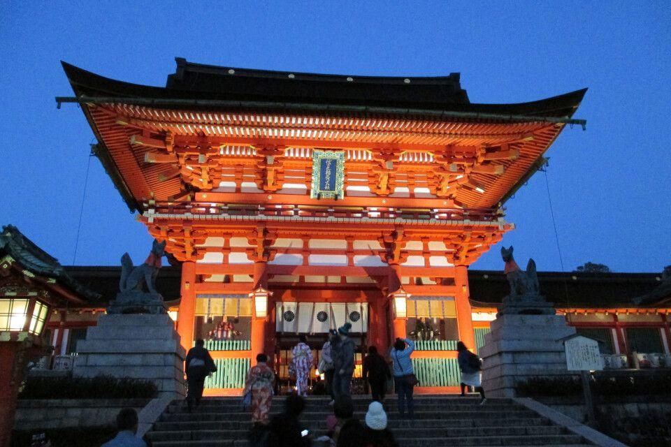 Der Fushimi-Inari-Schrein ist das wohl bekannteste Wahrzeichen Kyotos.