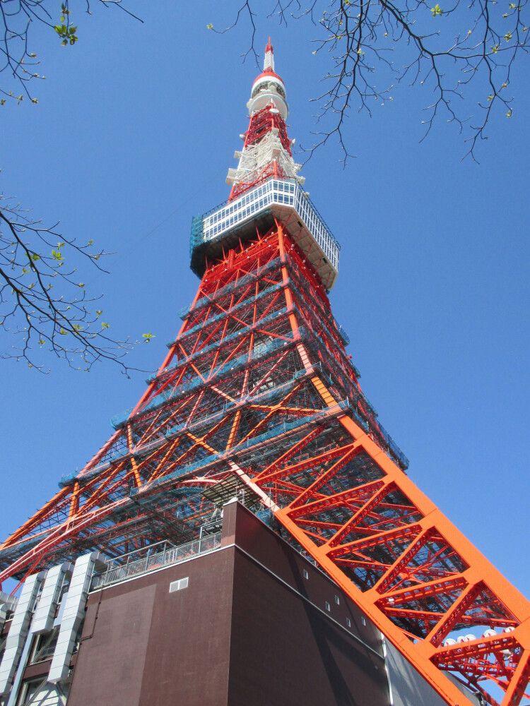 Der Tokio Tower wurde nach dem Vorbild des Eiffelturms erbaut.