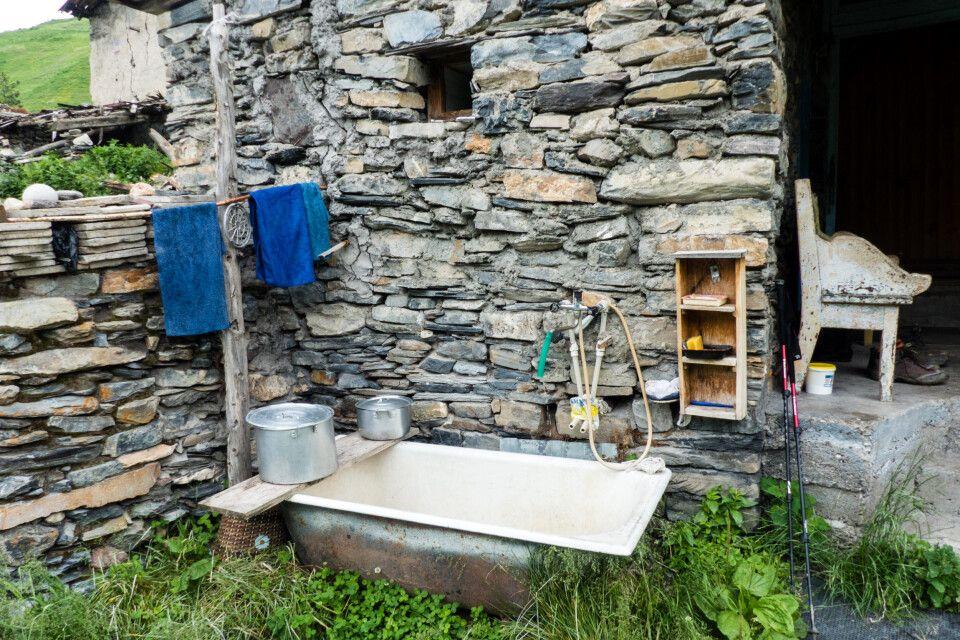 ein alternatives Bad der Einheimischen