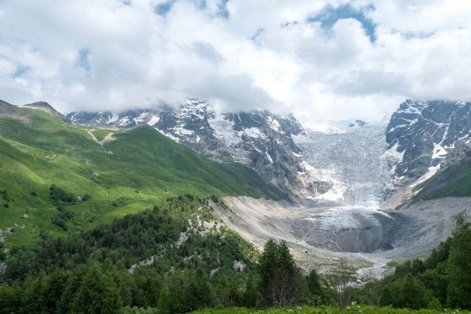 Wanderung bis zum Gletscherbruch