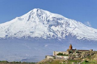 Postkartenmotiv Khor Virap mit Ararat