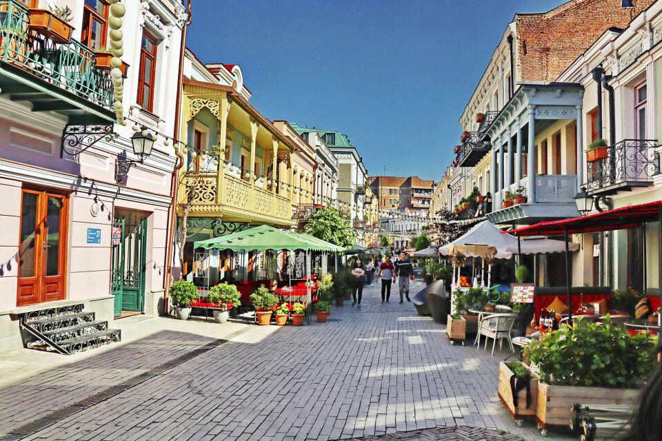 Durch die Straßen von Tiflis
