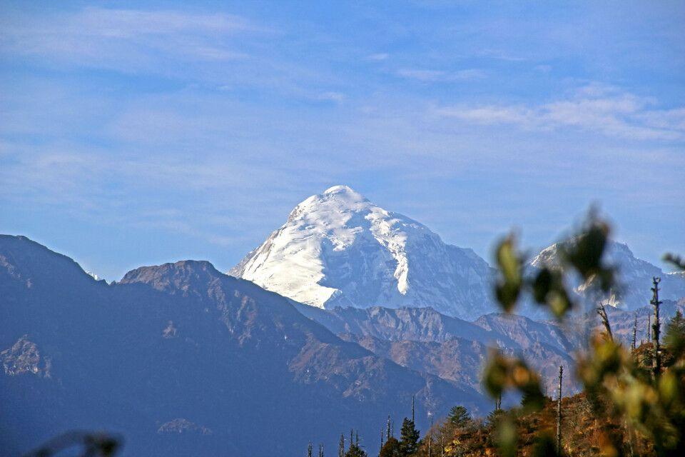 Druk-Path-Trekking mit Blick auf den Jomolhari (7320m)