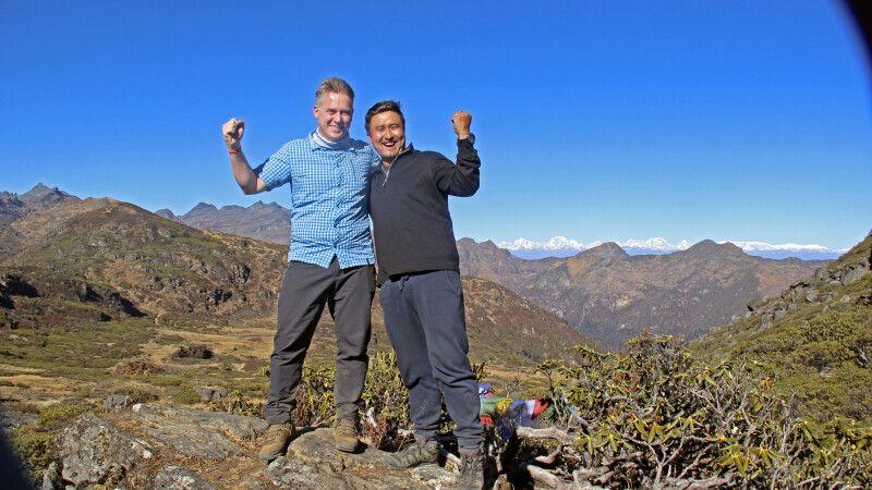 Druk-Path-Trekking: Wir haben den Labana-La-Pass (4210m) geschafft! © Diamir