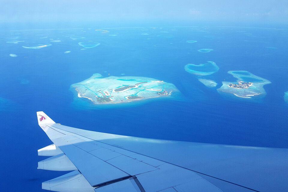 Landeanflug auf Male