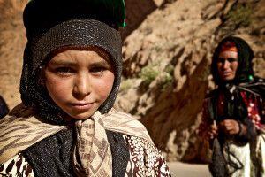 Berber Mädchen im Atlas-Gebirge