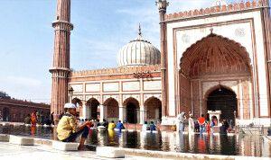 Moschee Jama Masjid in Old Delhi