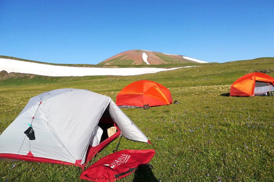 Das Zeltlager ist errichtet