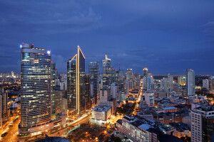 Manila bei Nacht