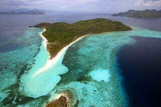 Ansicht auf eine idyllische Insel der Philippinen