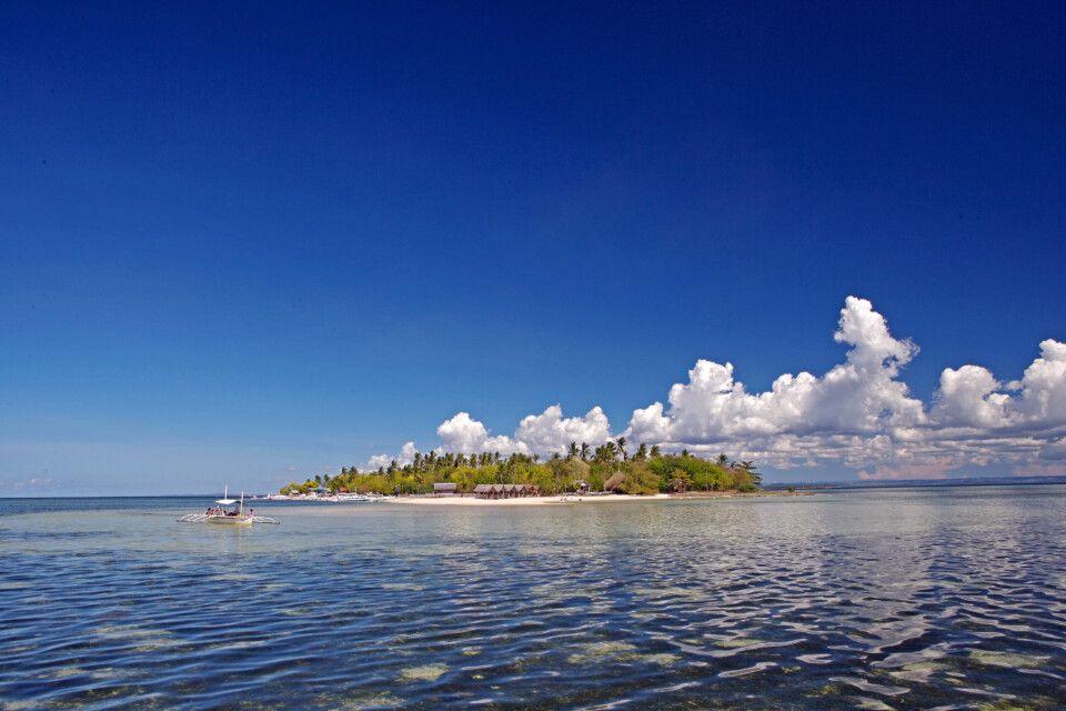 Blick auf die Insel Cebu