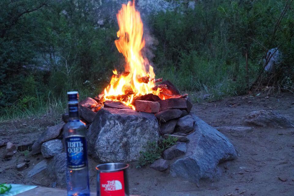 Lagerfeuer am Tschulischman