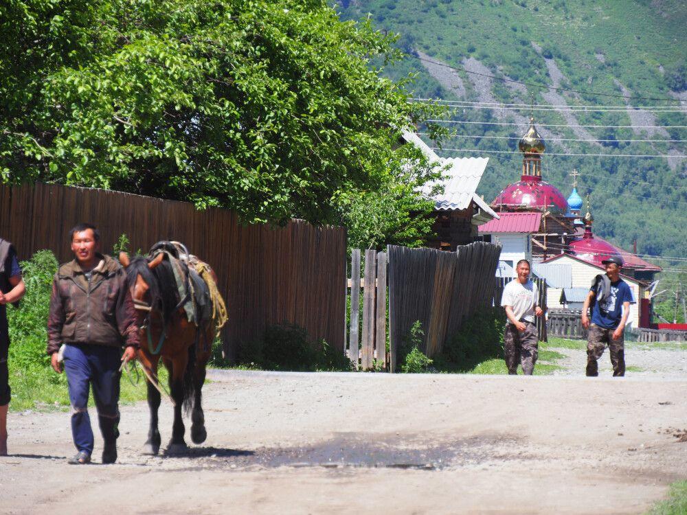 Dorf im Tschulischman-Tal