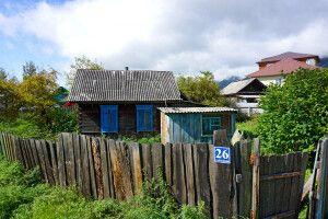 Holzhäuschen in Sibirien