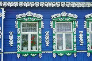 Holzhäuschen in Russland