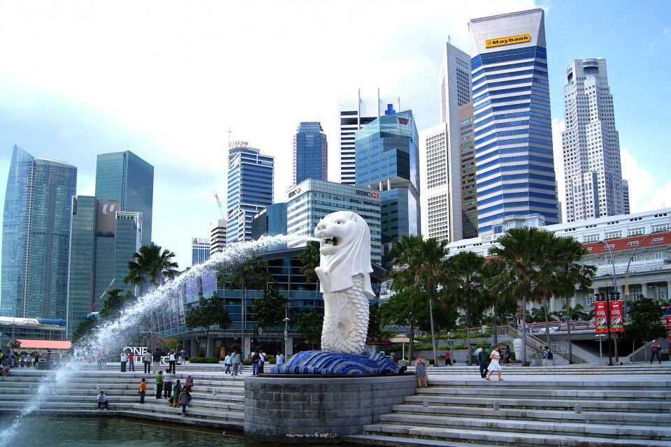 Merlion, das Wahrzeichen Singapurs