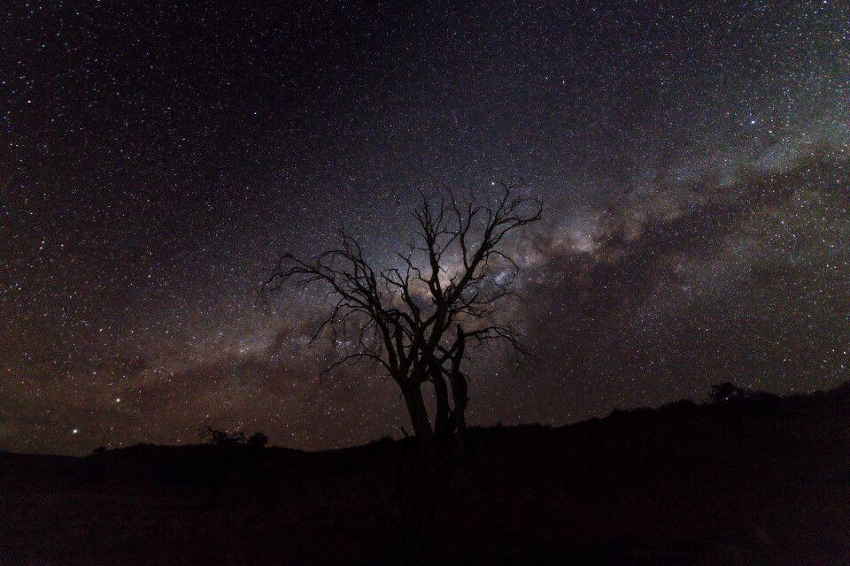 Sternenhimmel über der Namib-Wüste