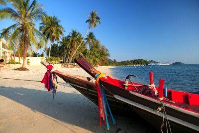 Traditionelles Boot am Lipa Noi Beach auf Koh Samui