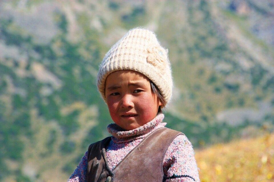 Kind in Süd-Kirgistan