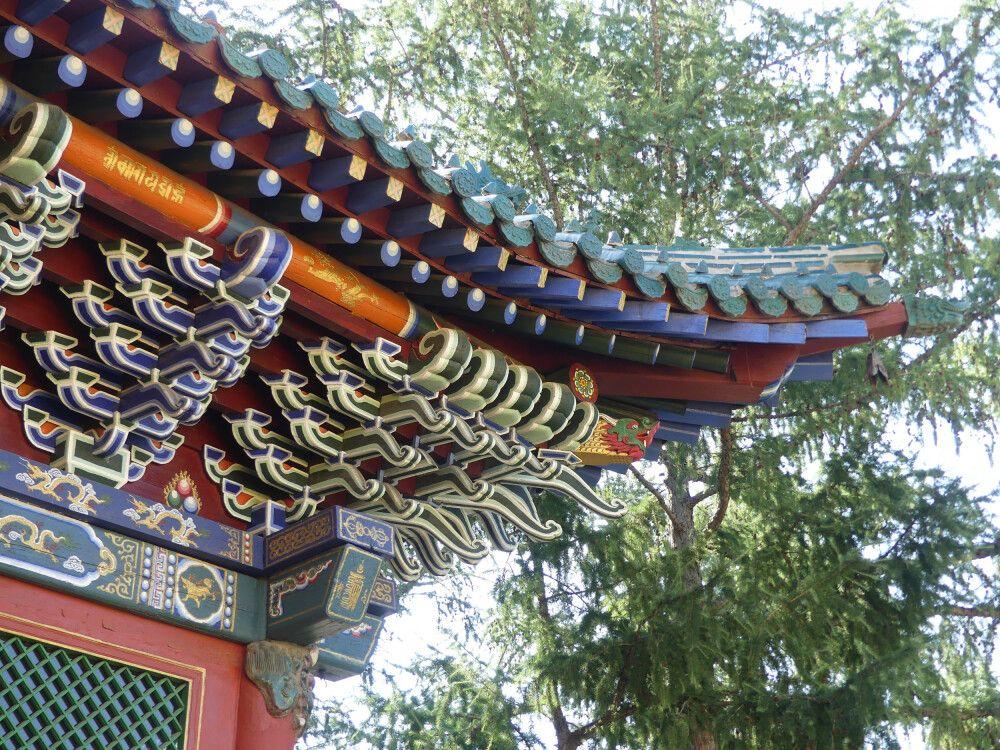 Dach am Gandan Kloster in der Hauptstadt