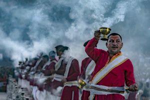 Zeremonie in Rishikesh
