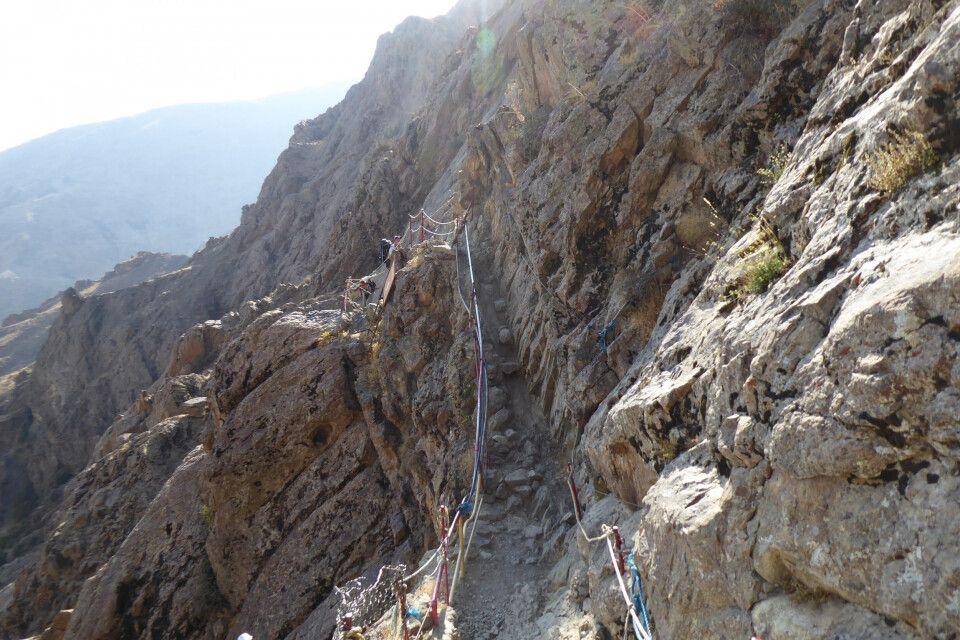 leichtes klettern am Mt. Tochal