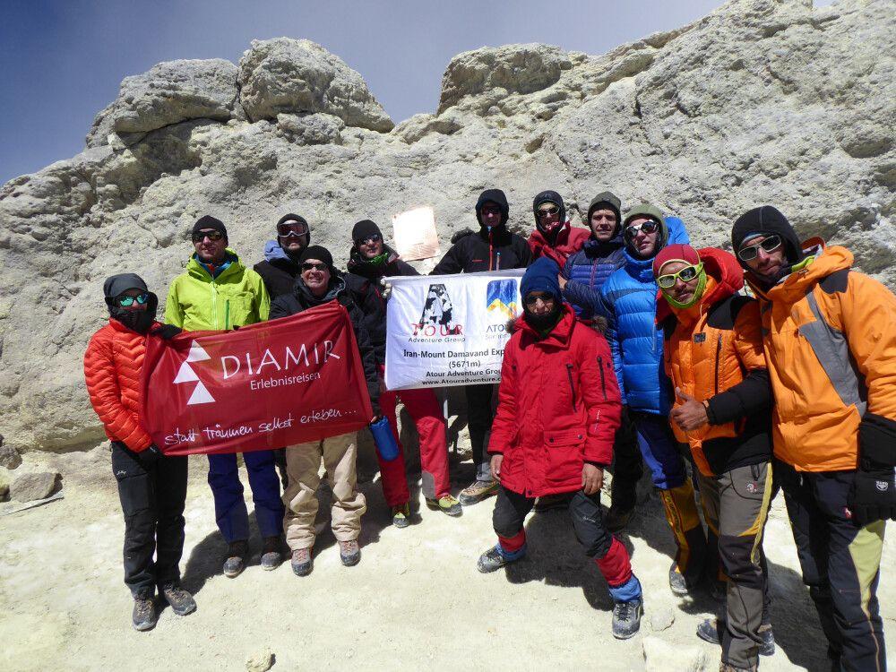 Gipfelfoto am Damavand