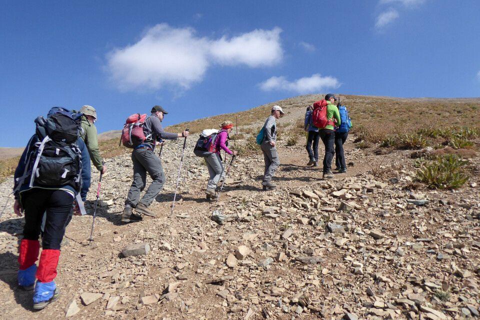 Aufstieg zum Mount Tochal