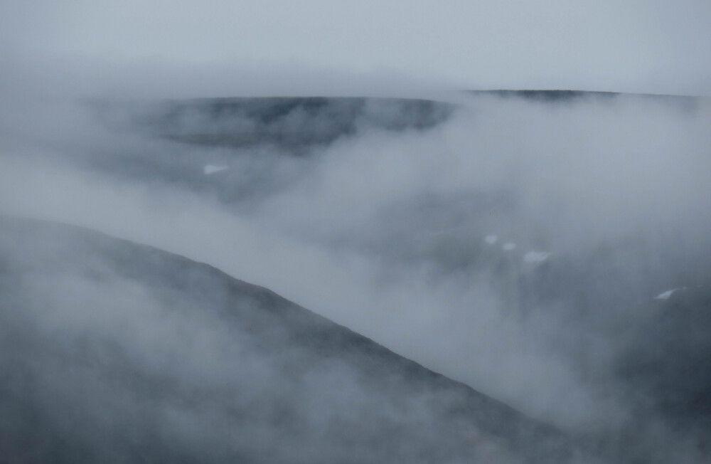 Herald Island umhüllt sich mit Nebelschwaden
