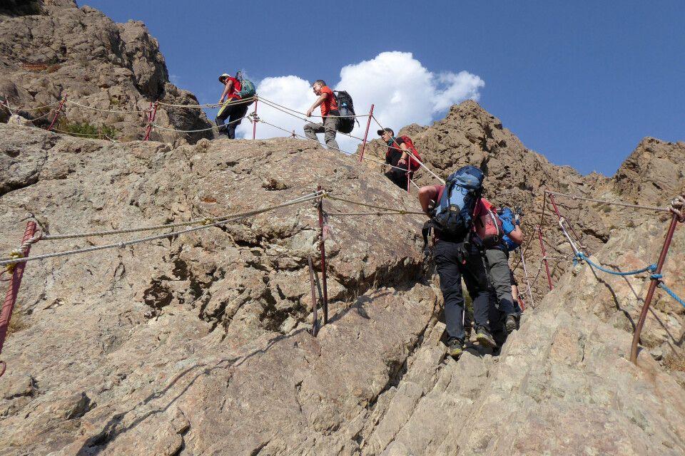 Klettereien zur Shirpala Hütte