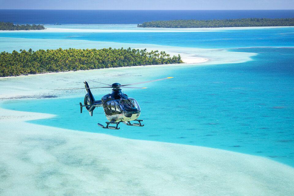 Helikopterflug über Bora Bora