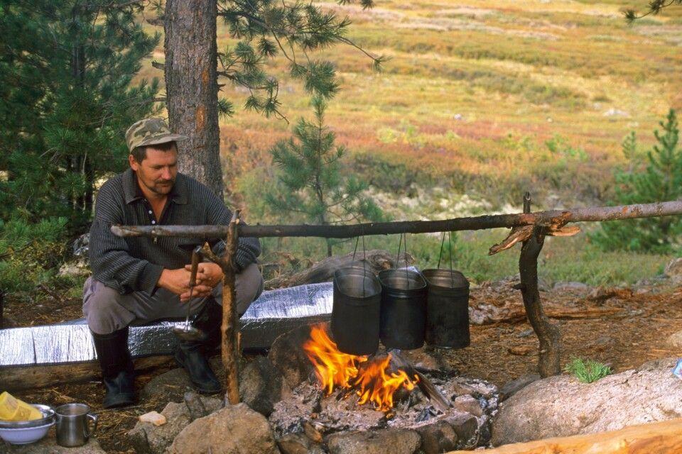 Kochstelle Altai-Trekking