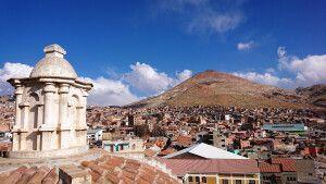 Blick auf den Cerro Rico von Potosi