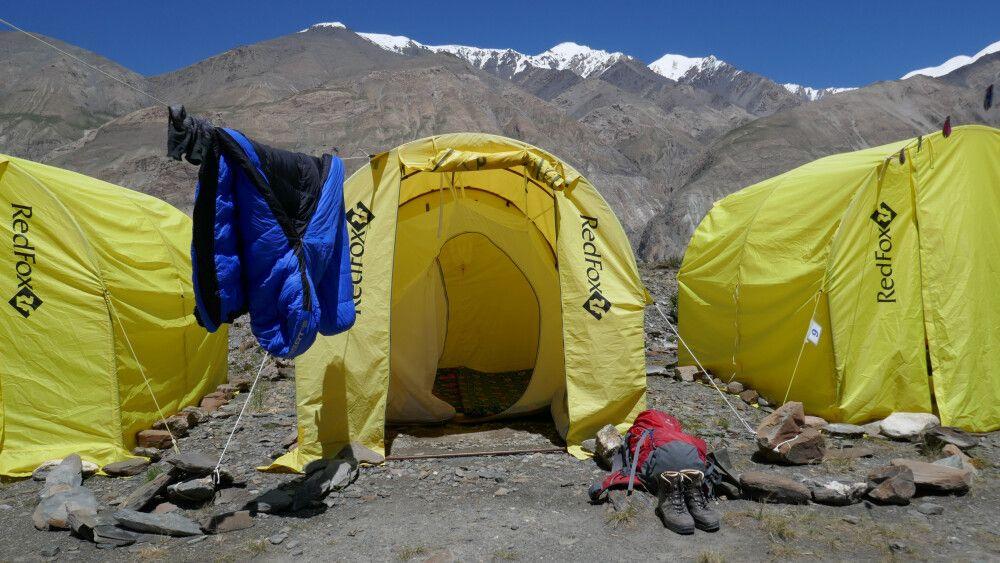 Zeltlager nahe des Inyltschek-Gletschers (2900m)