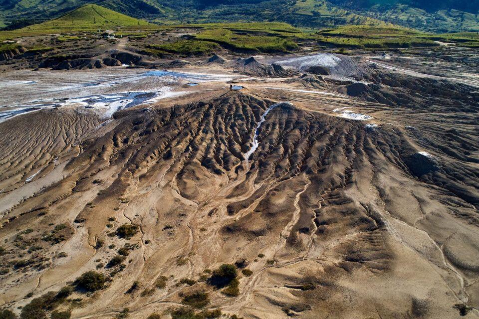 Schlamm-Vulkan in der Region Berca, Buzau