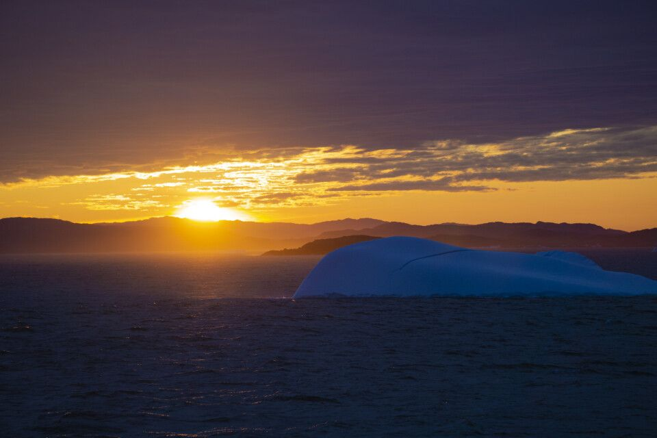 Spektakuläres Abendlicht vor Baffin Island