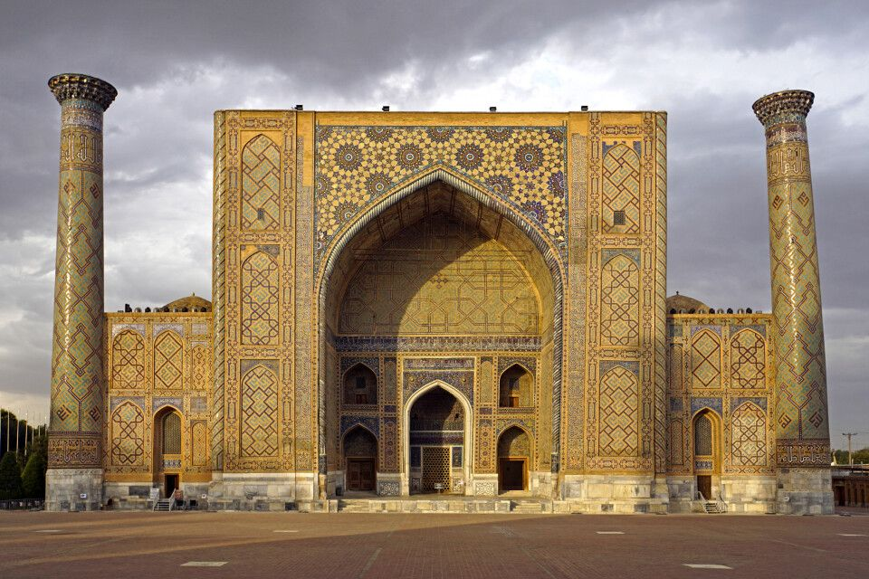 Medrese Ulugbek am Registan in Samarkand