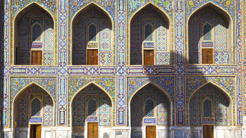 Samarkand Registan Innenhof © Diamir