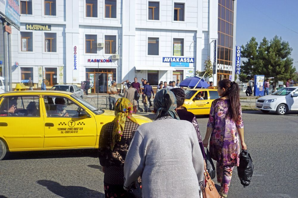 Samarkand Straßenszene
