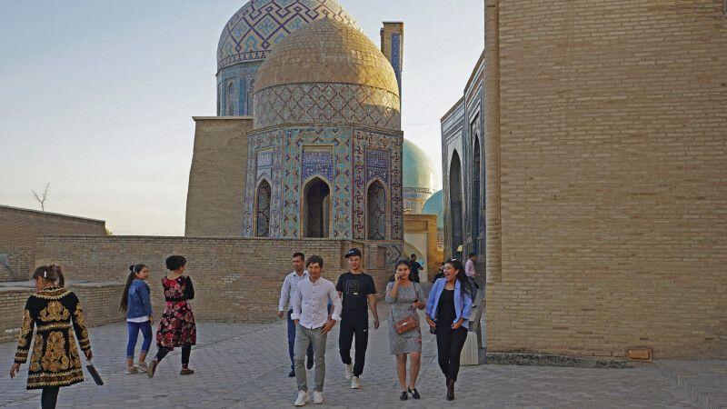 Samarkand Nekropole Totenstadt Shakhi-Zinda © Diamir