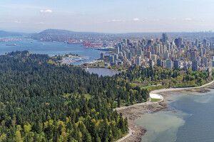 Luftansicht von Vancouver mit Stanley Park