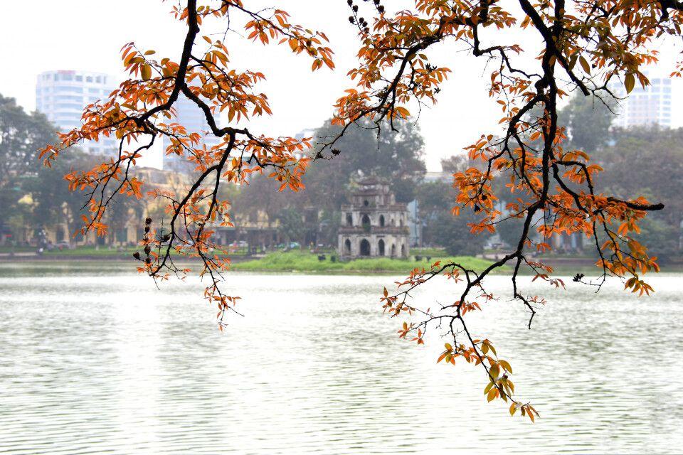 Malerischer Blick auf den Hoan-Kiem-See